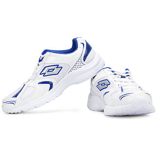Lotto Mens White,Blue Lace-Up Running Shoes