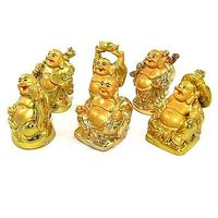 Laughing Buddha Set Of 6 Different Positions