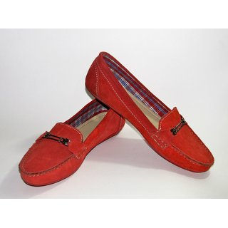 Wind Rider Women Moccasins - Red Moccasins