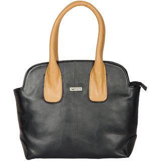 Bern Decent Black And Beige Handbag