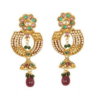 Designer Kundan Meenakari Earring Multicolor