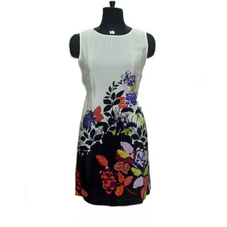 Floral Printed Round Neck Casual Wear Yash Tunic Elegant Dress