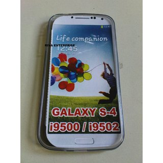 Samsung Galaxy S4 i9500  Samsung Galaxy S4 i9502 Soft Silicon Back Cover Case Made from Good Material