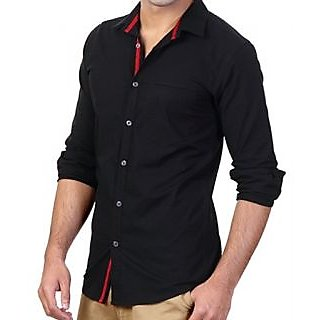 Online Hawk Black Party Wear Full Sleeves Shirt Prices - Shopclues ...