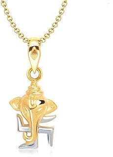 Vina Swastik Gajmukh Pendant Gold And Rhodium Plated