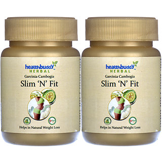 Healthbuddy Herbal Slim 'N' Fit, 2 Packs Of 30 Capsules Each.