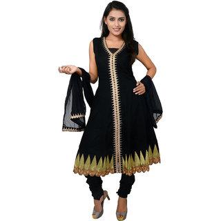 Stylish Trendy Readymade Anarkali Suits Black Size Large