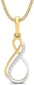 Zomint Infinity Diamond Pendant In 18K White and Yellow Gold