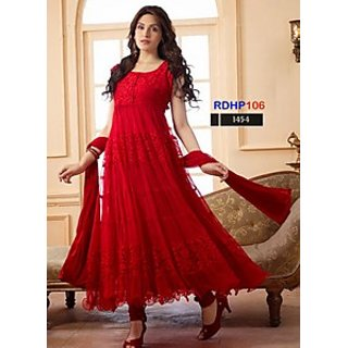 660f07b94ec Buy Rozdeal New Designer Red Net Brasso Anarkali Suits Online ...