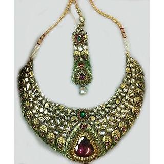 Ladies Gold Necklace Multicolor