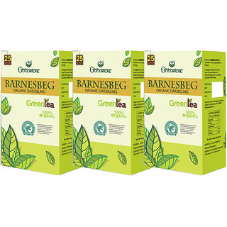 Goodricke BARNESBEG Organic Darjeeling Green Tea 25 Tea Bag Pack Of 3 Total 75 Tea Bags