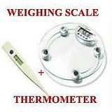Digital LCD Electronic Weighing Scale +thermometer