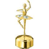 24K Gold Plated Studded Musical Ballerina Showpiece (Swarovski Crystals) For Gift This Raksha Bandhan