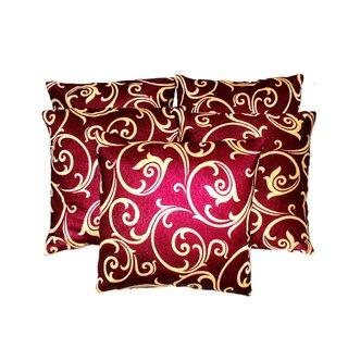 liana cushion red  beige ( 5 pcs set)