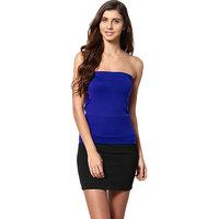 Aashish Fabrics Multicolor Plain Strapless Tube For Women