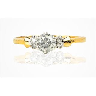 Anaira's Diamond Jewellery 14Kt BIS Hallmarked Diamond Ring