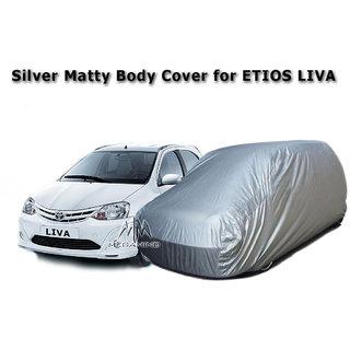 Car Body Cover of / for TOYOTA ETIOS LIVA / Toyota LIVA Silver Matty Body Cover