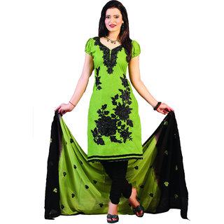 Minu Suits Senorita 3 Cotton Embroidered Unstitched Anarkali Suit (Senorita 3_3007)