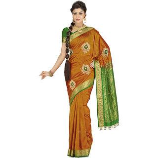 Krishna Multicolor Linen Self Design Saree With Blouse