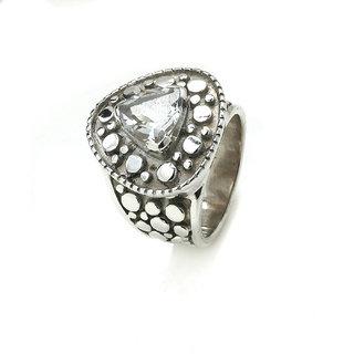 D K Design 925 Sterling Silver Natural Crystal Ring - DK_RI_29_7