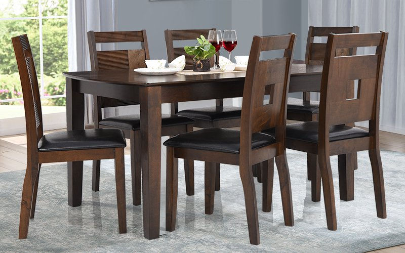 Solidwood Apple DiningSet 6 Seater