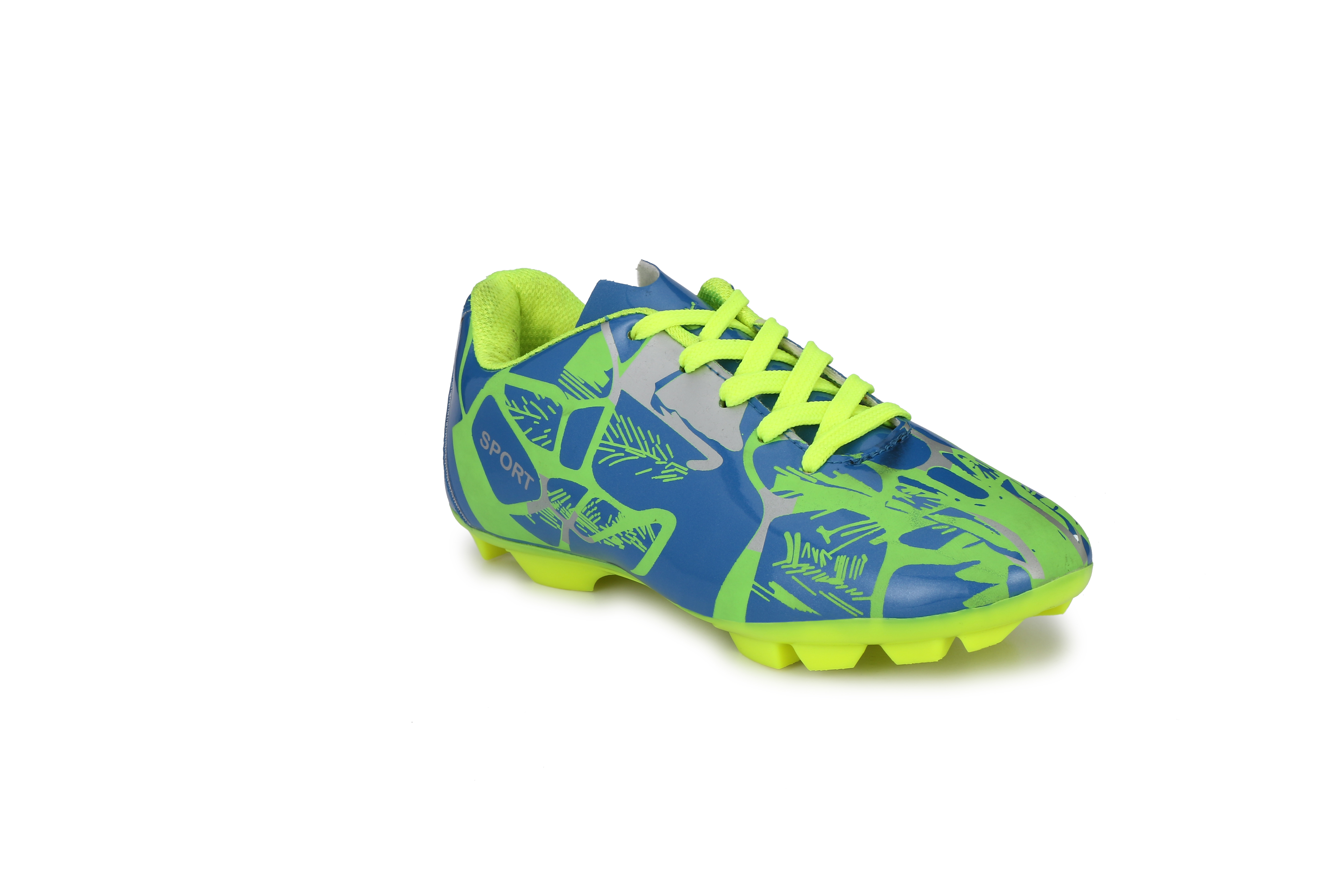 BUCIK Men\'s Neon Synthetic Leather Football Shoes