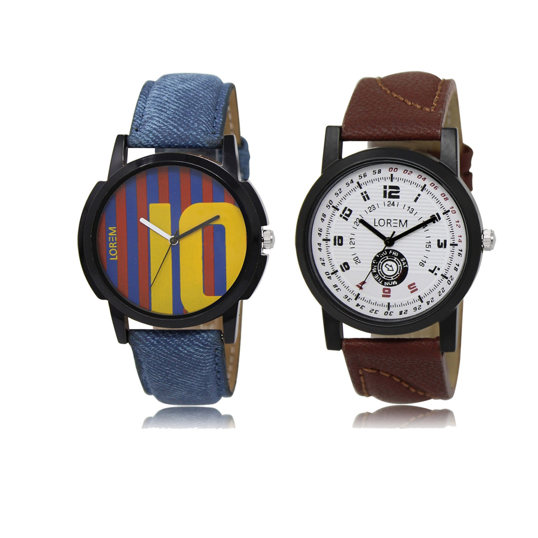 LOREM Analog Multicolor White Dial Wrist watch For Men LK 10 11