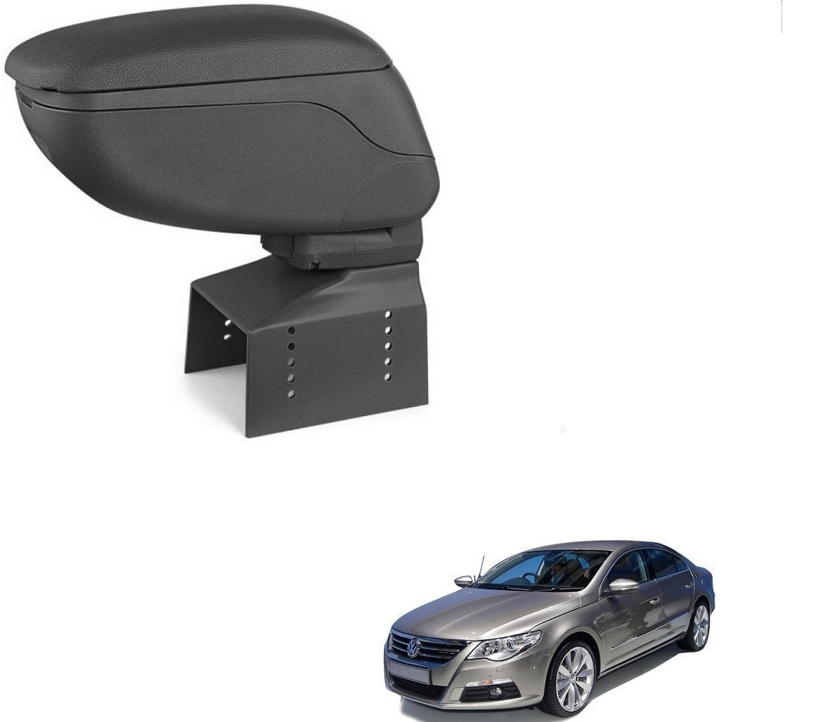 Auto Addict Car Armrest Console Black Color For Volkswagen Passat