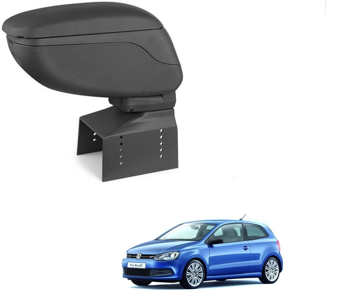 Auto Addict Car Armrest Console Black Color For Volkswagen Polo GT