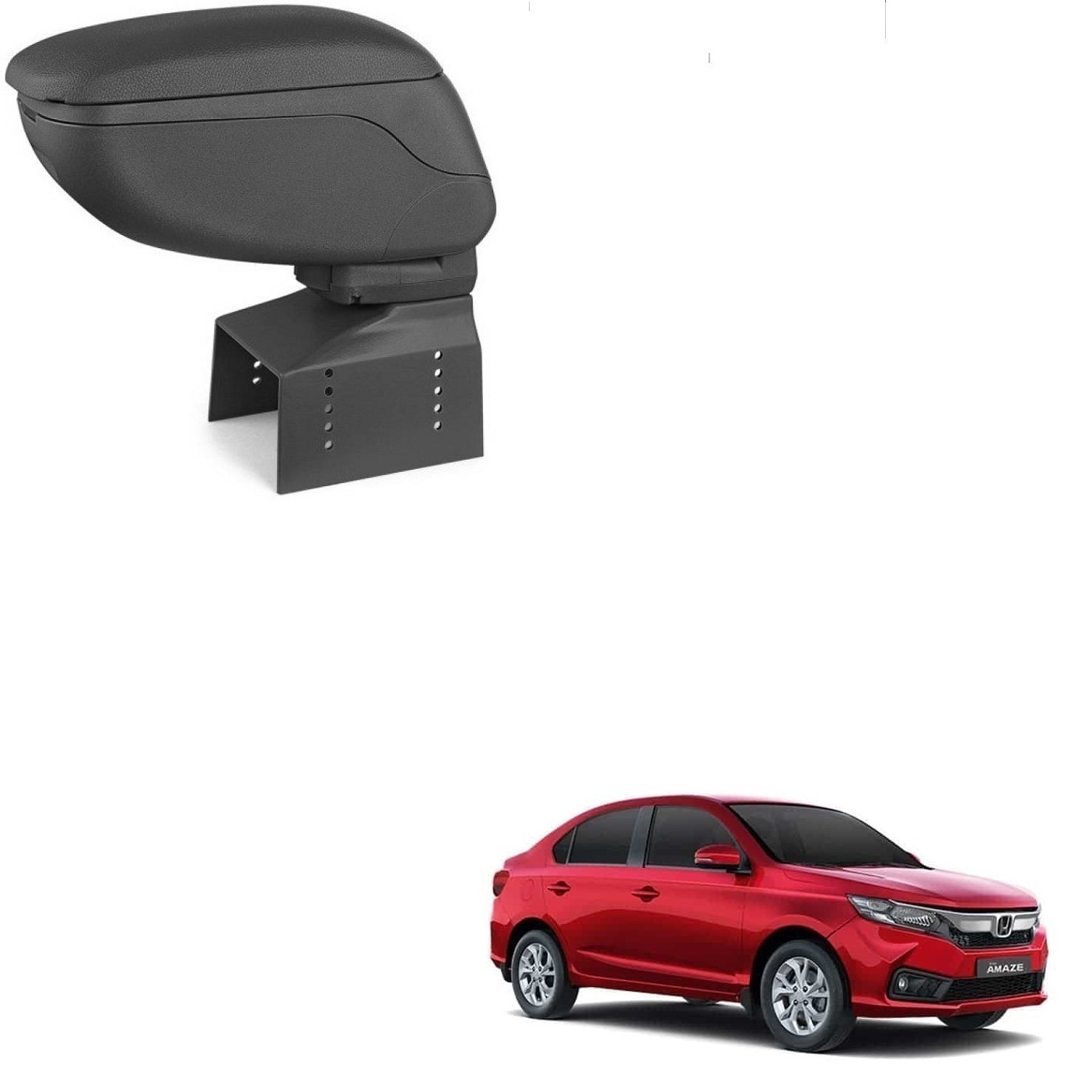 Auto Addict Car Armrest Console Black Color For honda Amaze New 2018
