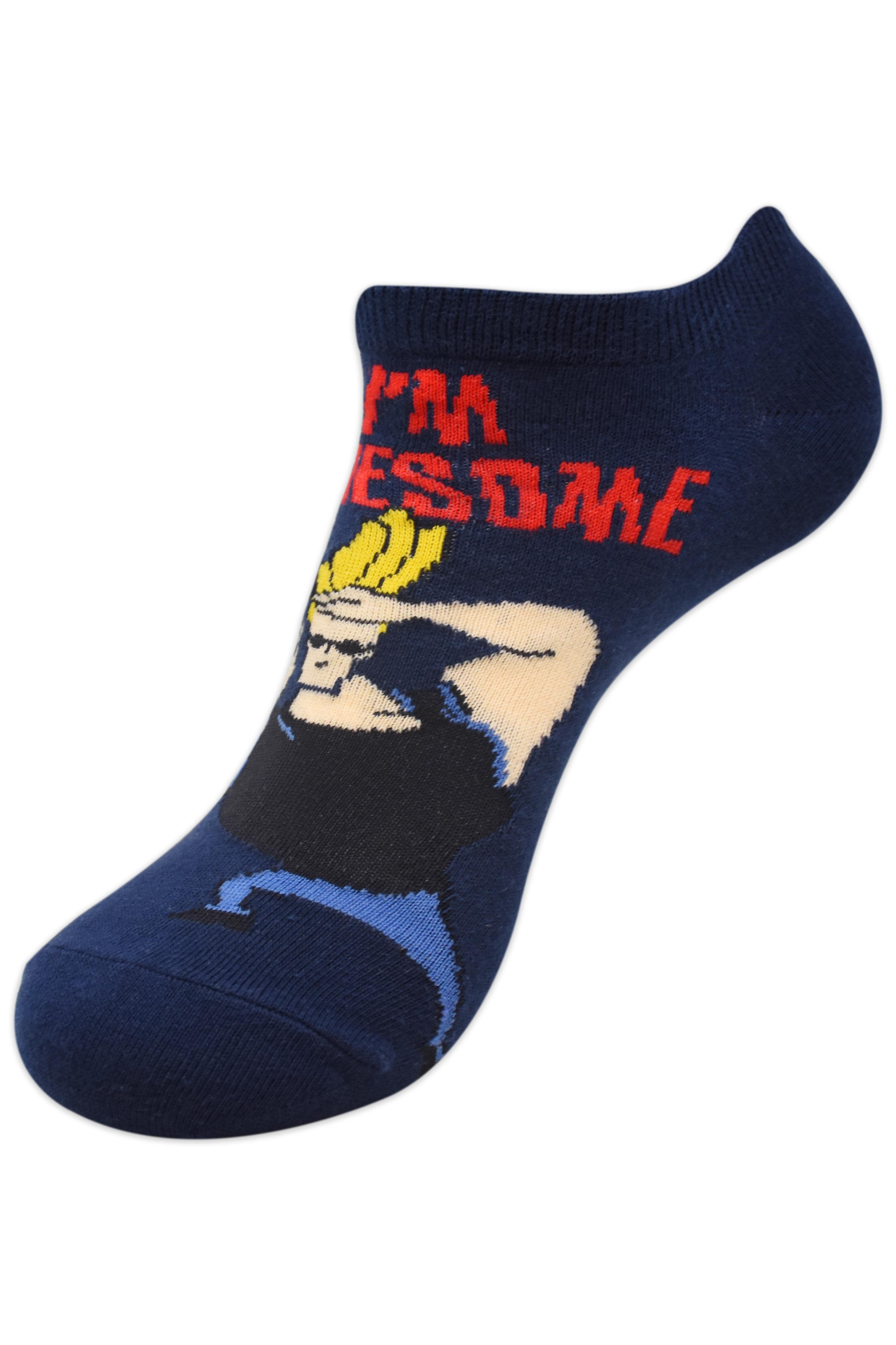 Johnny Bravo Men   I'm Awesome  Low Cut Socks by Balenzia