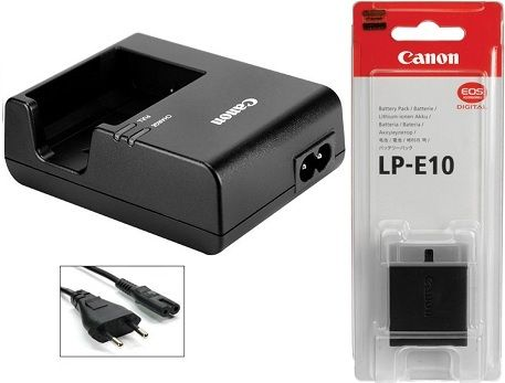 Canon LP E10 Lithium Ion Battery Pack + LC E10E CHARGER INCLUDE