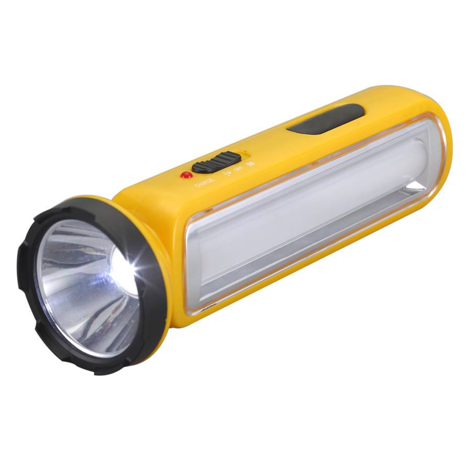 Stylopunk 1 Big LED Bright Light Rechargeable emergency light With Flash Torch light 24Energy EN 655   Yellow