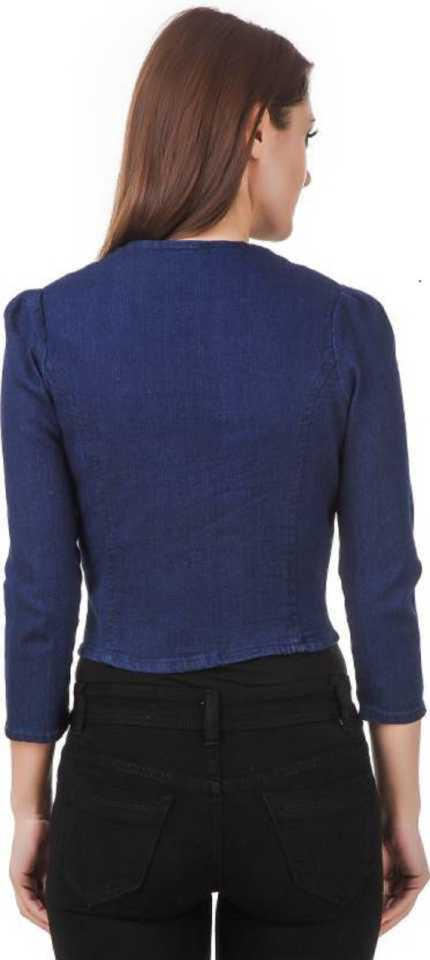 Full Sleeve SMALL Solid Women Denim Jacket
