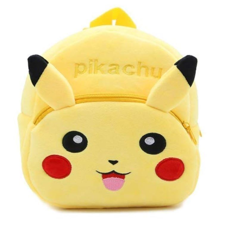 PROERA unisex Pikachu Yellow Kids School Bag