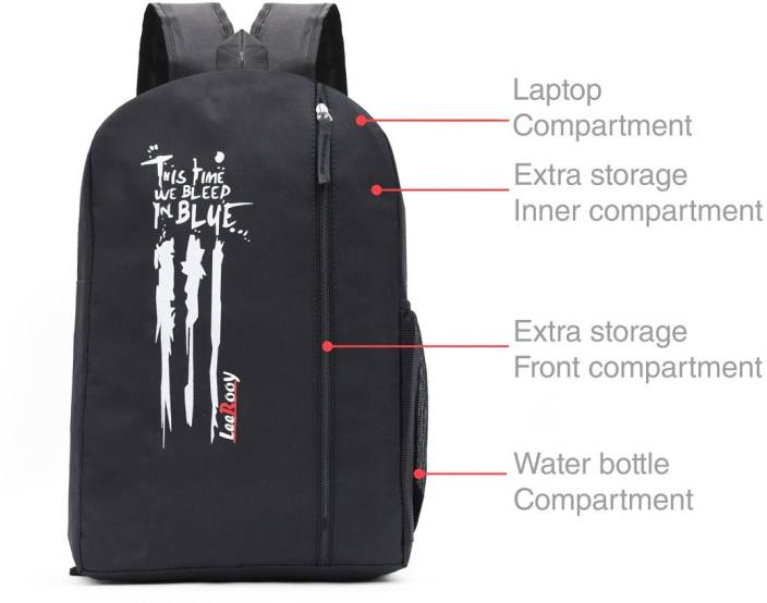 LeeRooy MN  BG26 BLK 8 20 L Backpack  Multicolor