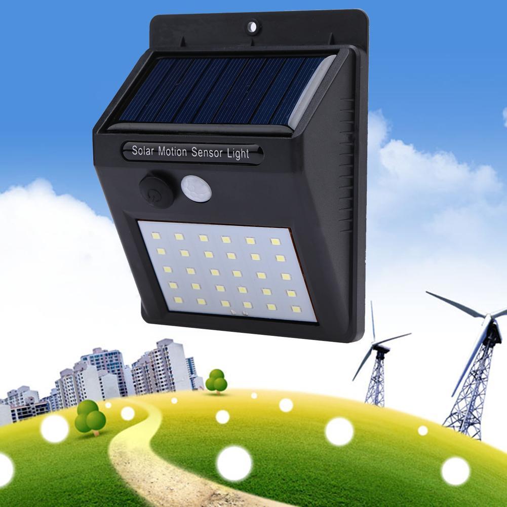 Tech Gear LED Solar Wall Pathway Lamp Light PIR Motion Sensor Waterproof Garden Outdoor Lamp