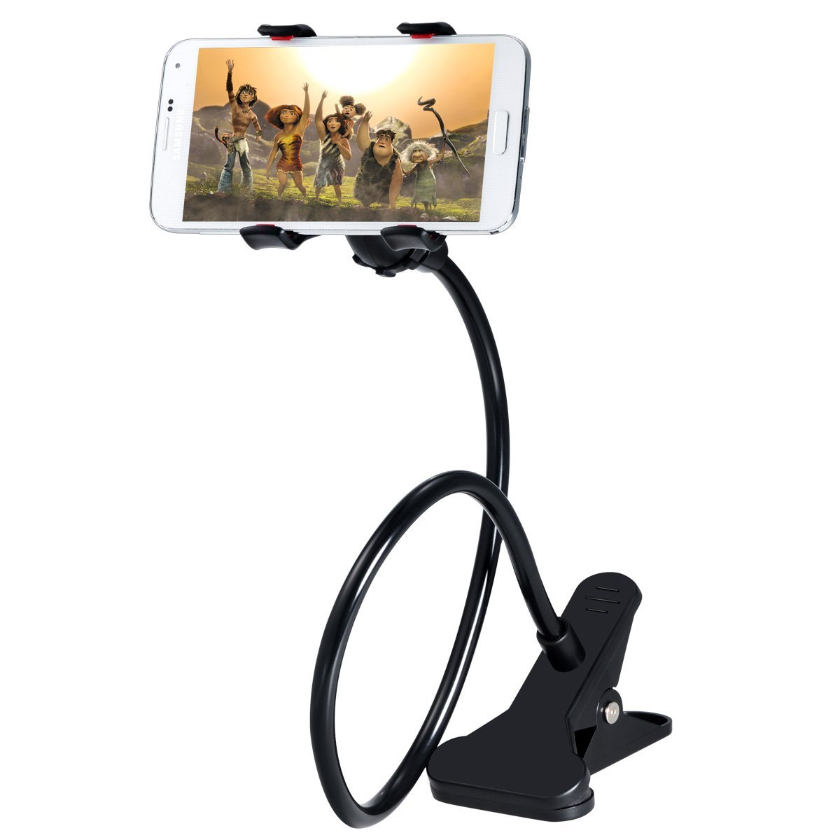 BattlestarFlexible 360 Degree Snake Style Stand Long Lazy Stand Foldable Mobile Holder Stand, Cell Phone, Flexible Long Arms Clip Mount Mix colour CodeLazyX35
