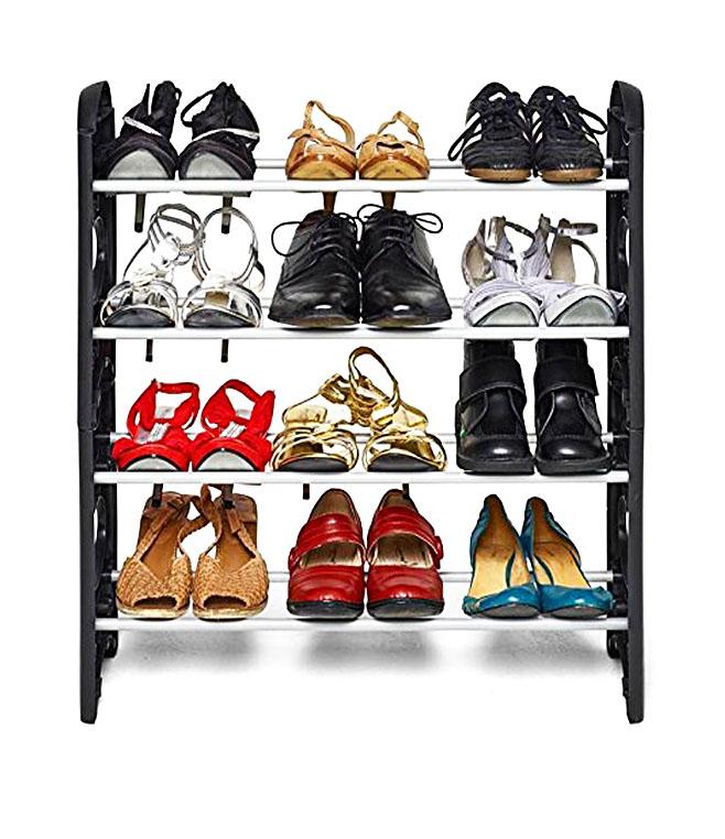 Shopper52 Stackable Shoe Rack Storage Shoe Stand Shoe Cabinet Shoe Organiser   12SHRK