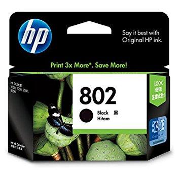 HP 802 Black Ink Cartridge  HP Part Code CH563ZZ