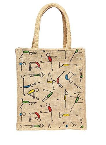 Girls And Guys Yoga Jute Bag Cum Lunch Bag