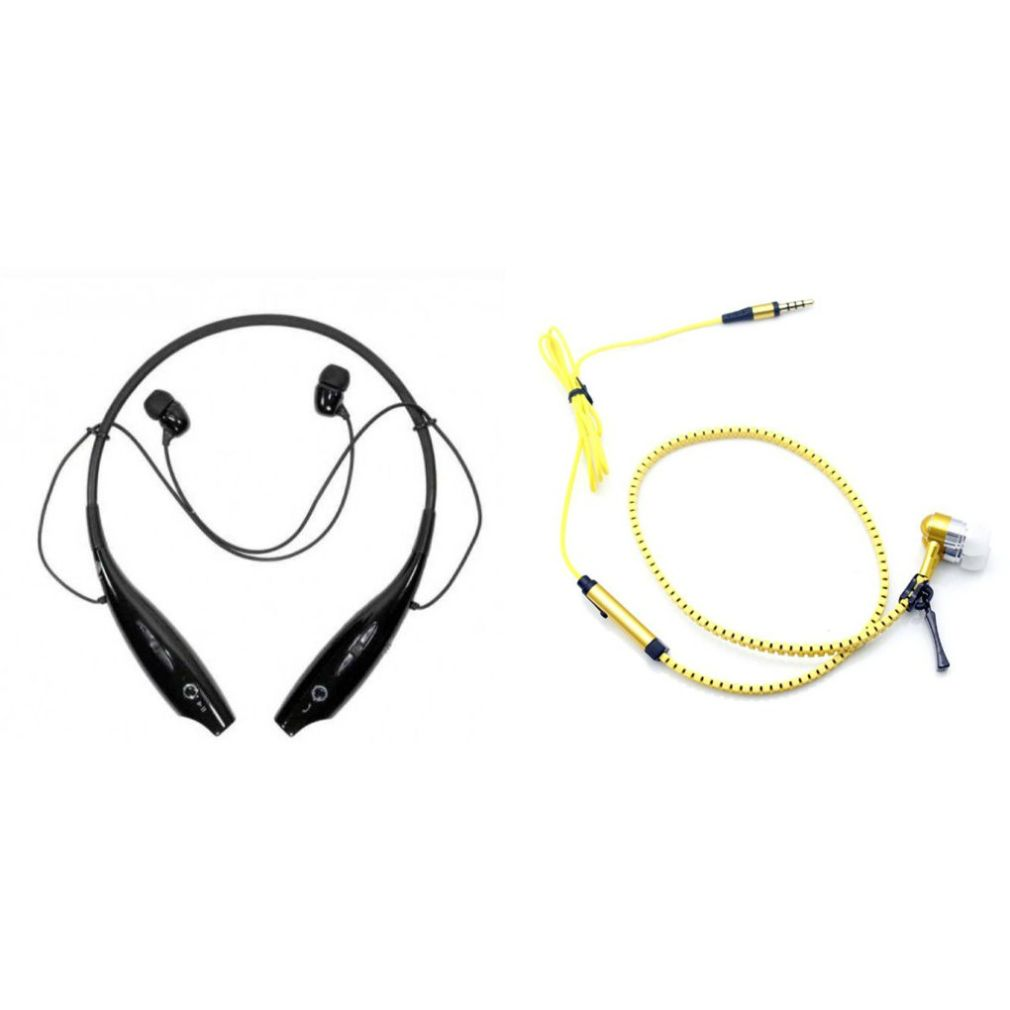HBS 730 bluetooth headset and Zipper Wired Headset Neckband bluetooth headset Stereo Music Earphone Bluetooth Headset with Mic