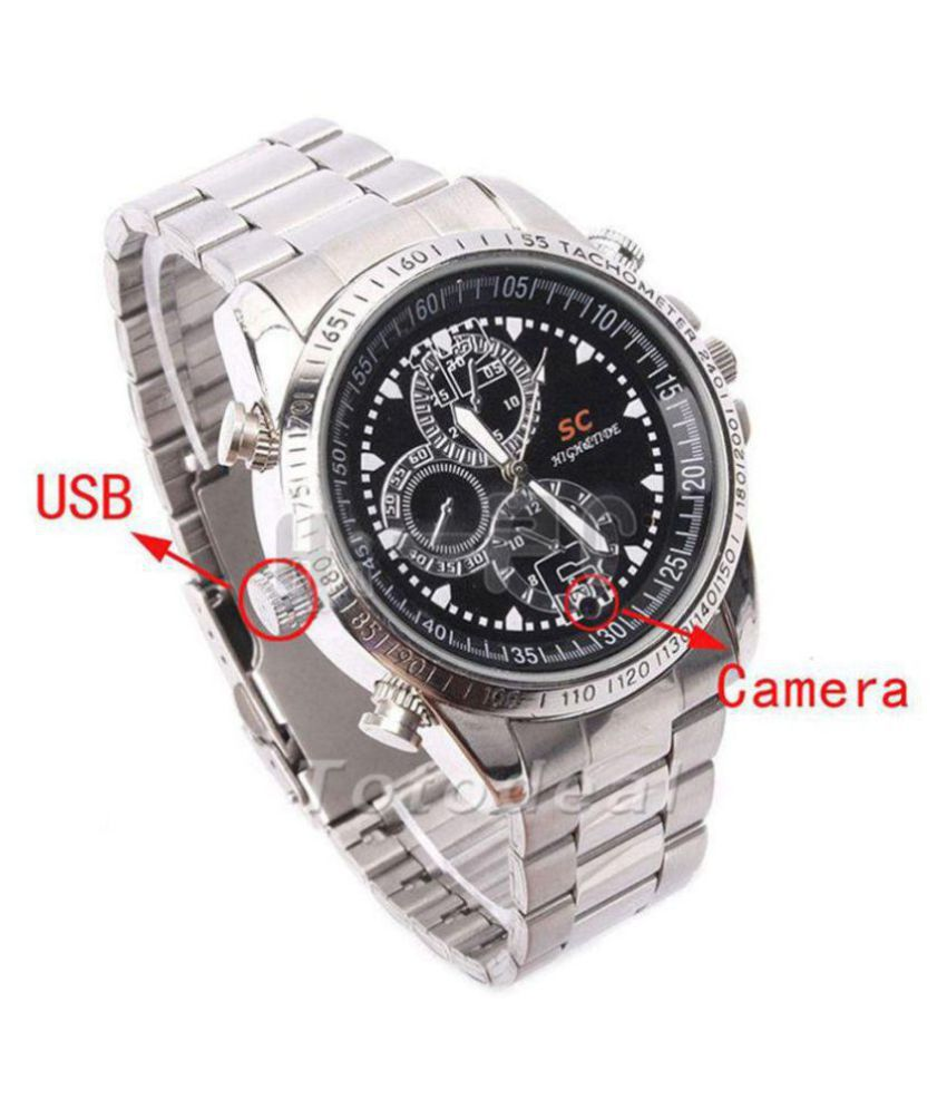 spy Steel watch camera 5MP MP3 Player Watch Spy Product