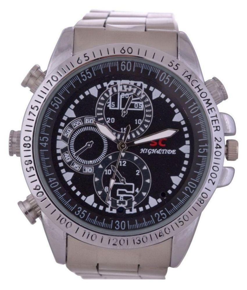 Spy Wrist Watch Hidden Camera With Audio/Video Recording Inbuilt 4 GB Memory steel model yl008