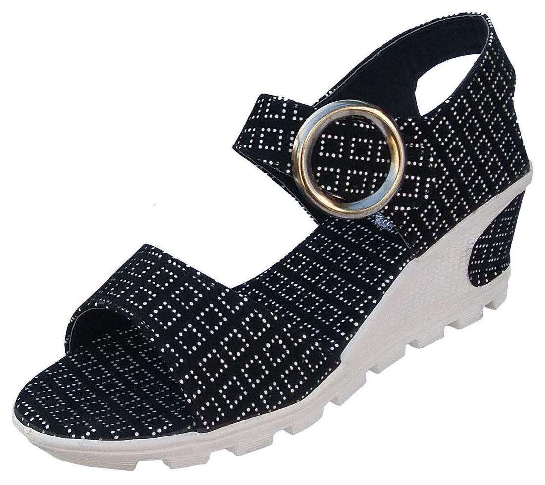Women Black Wedge Heels