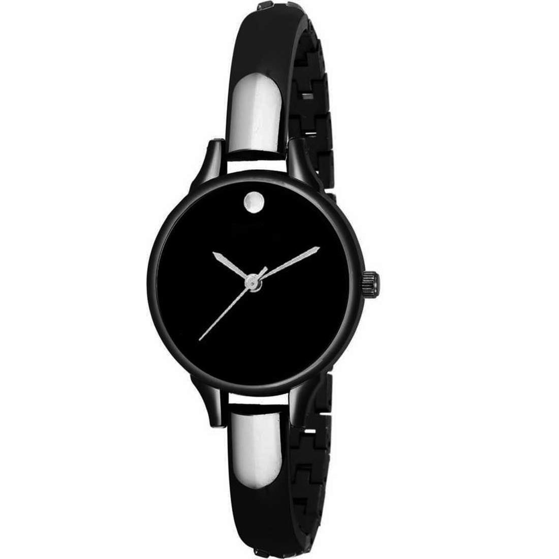 Varni Retail Black Bangle Analog Watch   For Girls And Women