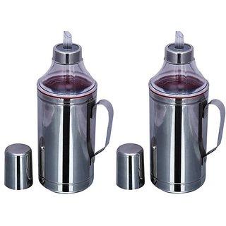 Stainless steel Set of 2 1000 ml Cooking Oil Dispenser Se ...