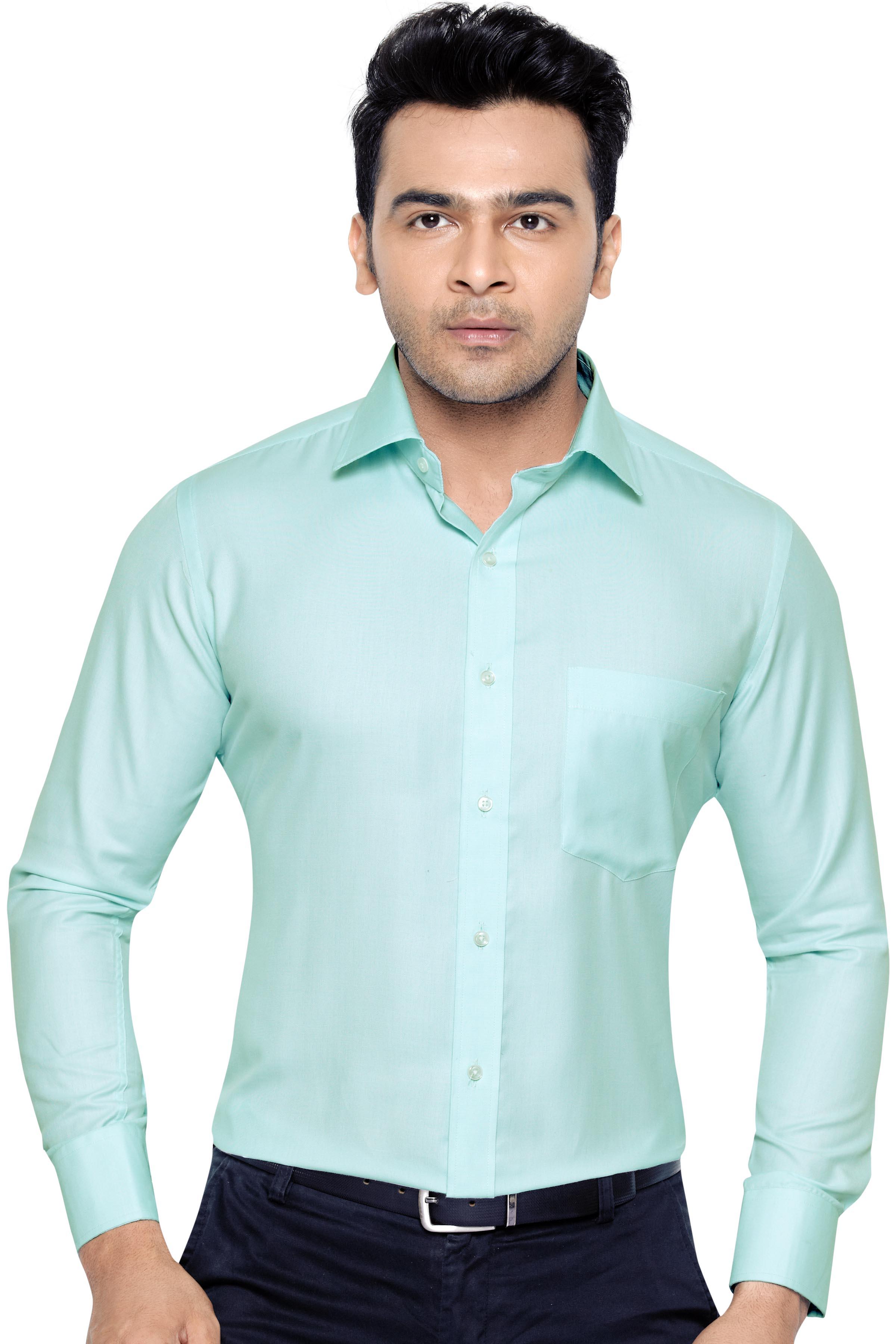 Corporate Club Beetel Mens Formal Office Wear Shirt Green  M