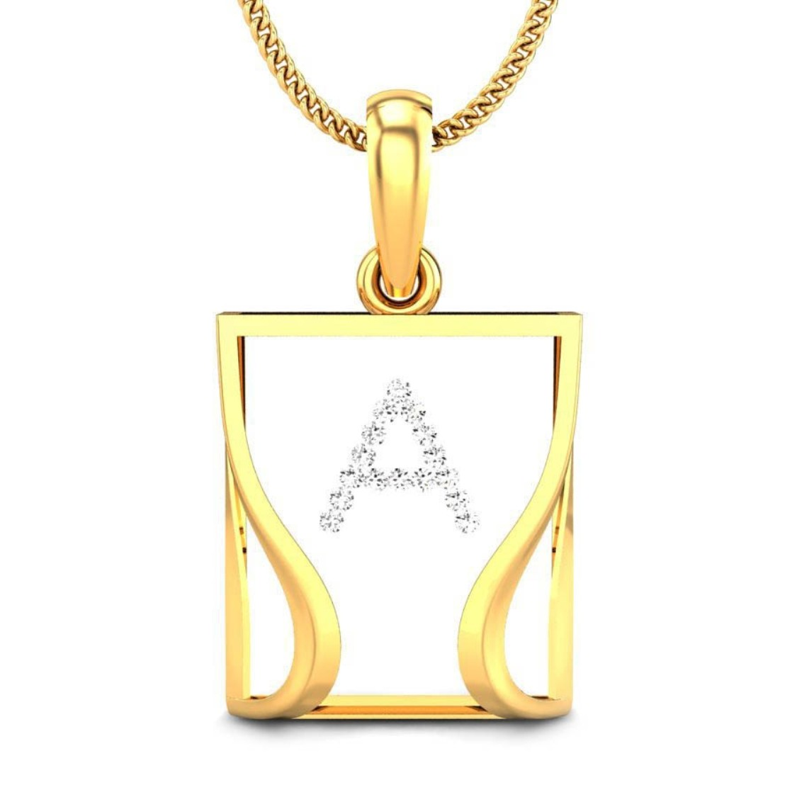 18K Gold Pendant with Real Diamonds