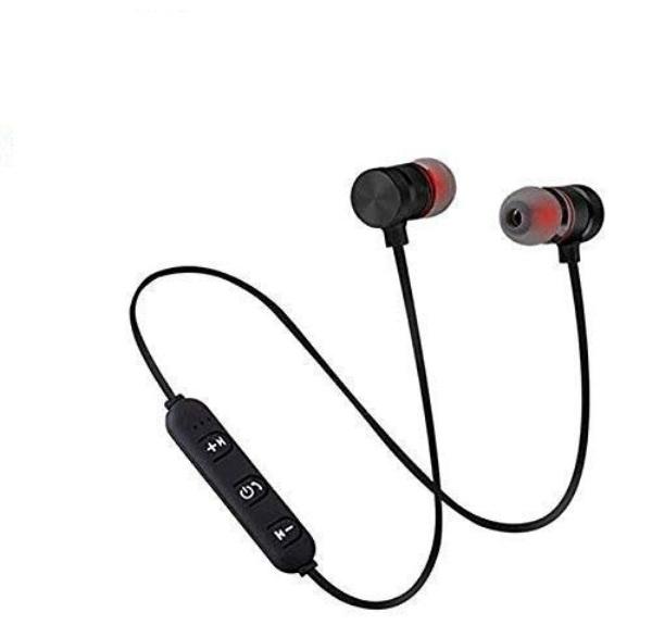 Wireless Sports Bluetooth Magnet Earphone Hand Free Headphone for All Smartphone  Black